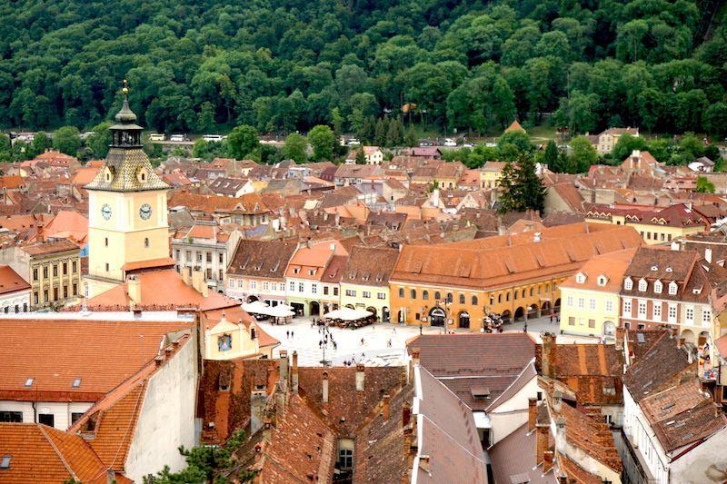 Vistas de Brasov desde la Torre Blanca