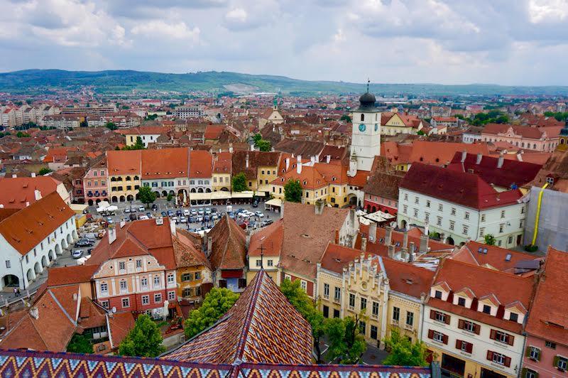Vistas de Sibiu desde la Iglesia