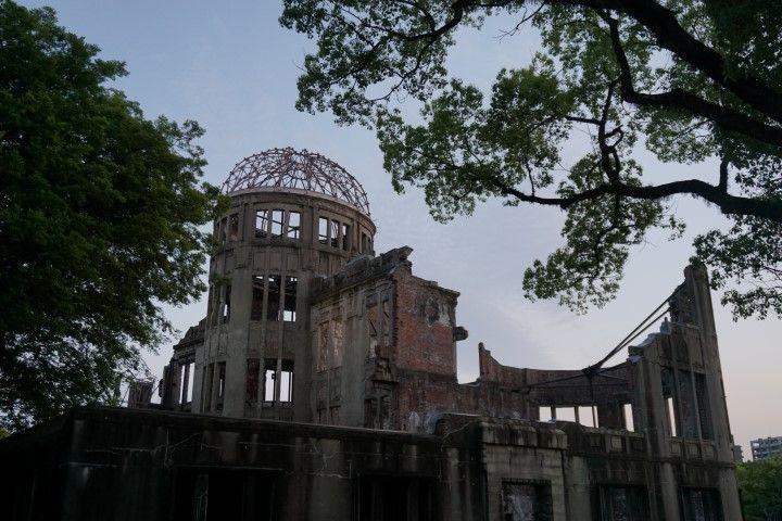El edificio emblemático de la cuidad: el único que se mantuvo de pie después de la catástrofe de la bomba atómica, cuyo epicentro fue tan solo a 160 metros de aquí.