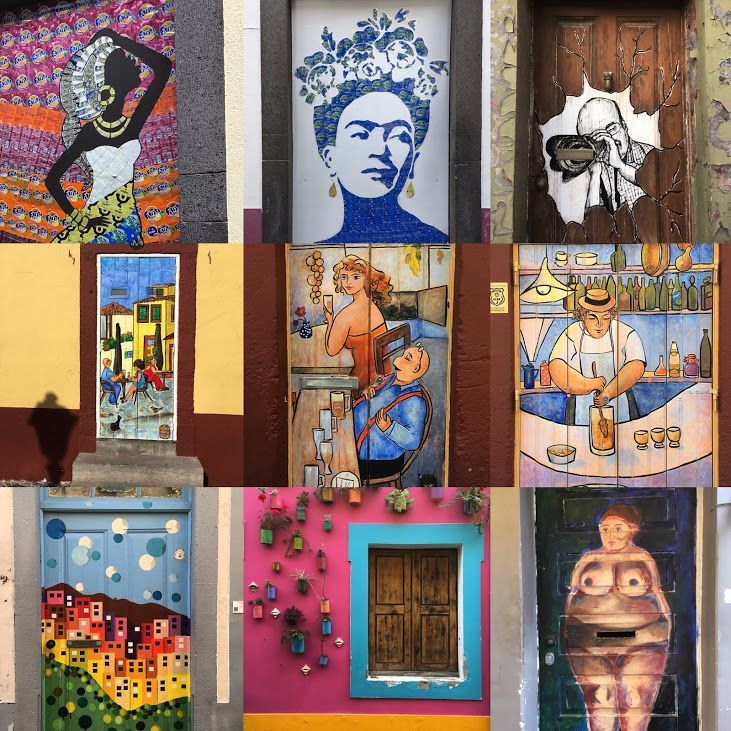 Puertas y ventanas de Rua de Santa Maria