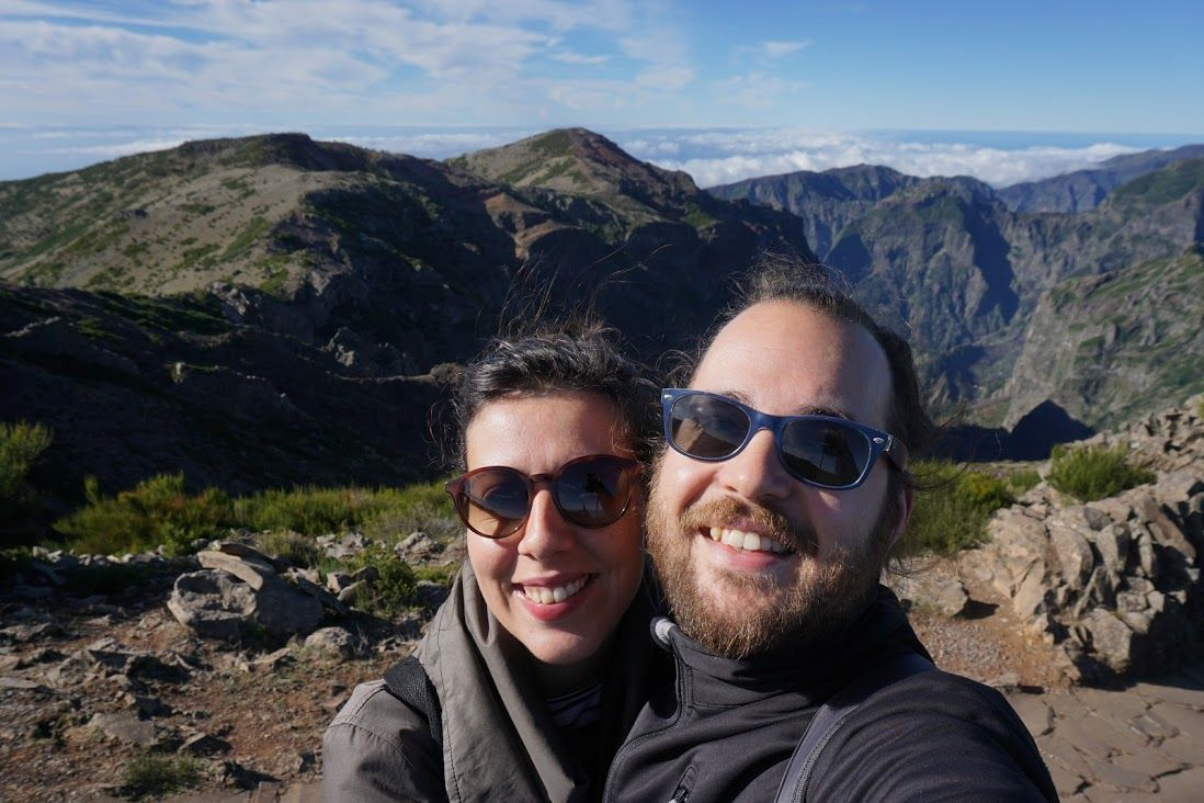 Randomtrippers felices, en Pico do Arieiro