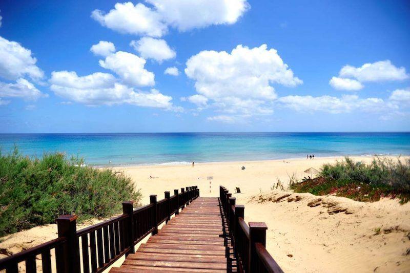 La espectacular playa de Porto Santo