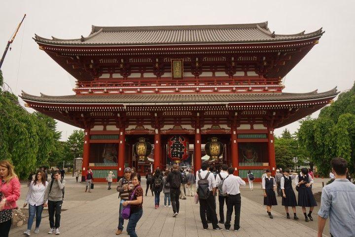 El famoso templo Senso-Ji de la capital, como podéis ver, estábamos prácticamente solos... o no! jajajaja