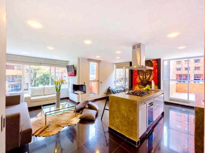 Apartamento en Chapinero alto hasta 6 personas. Foto de Booking