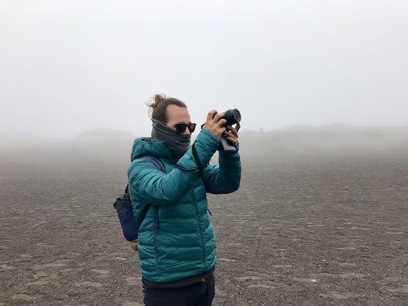 Chris, fotógrafo oficial de Randomtrip ante cualquier circunstancia: frío, calor, nieve o lluvia