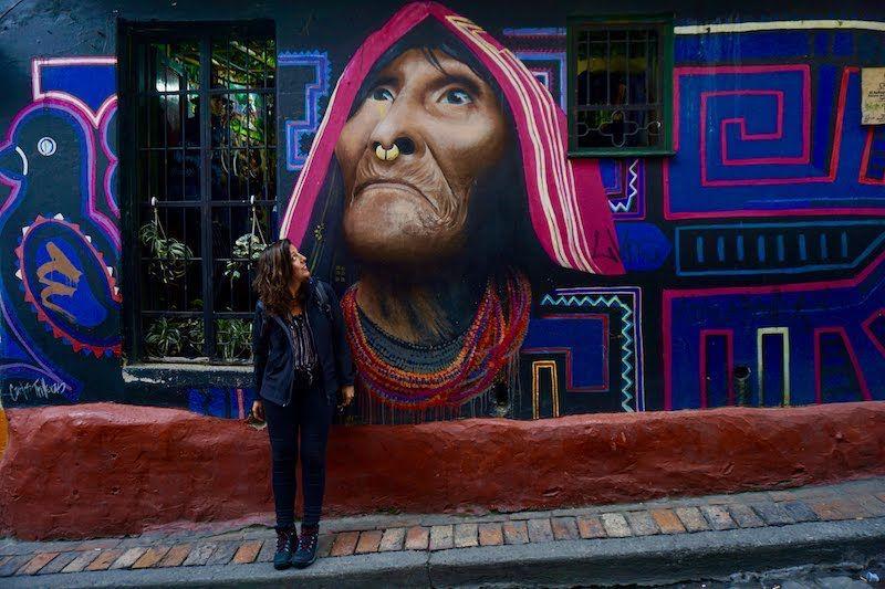 Una de las obras de street art más famosas de Bogotá