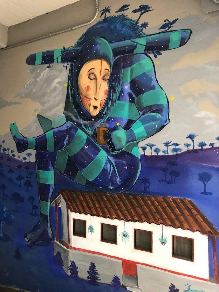 Un mural en El Poblado