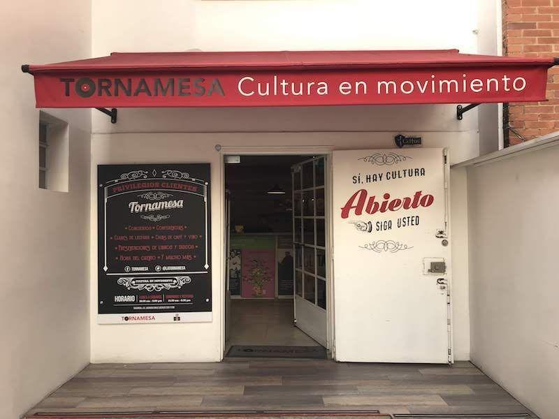La entrada de Tornamesa, en Bogotá
