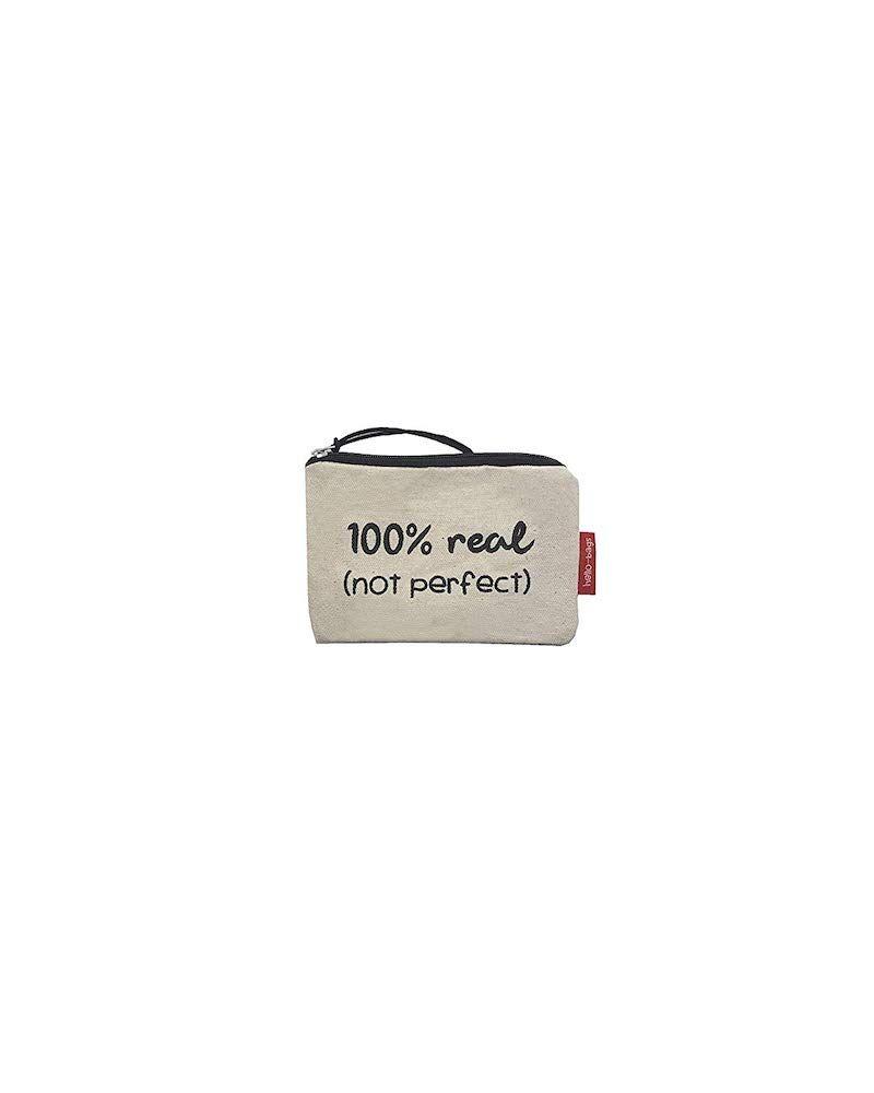 Un monedero es un acierto de regalo para un viaje porque nunca está de más, sobre todo si viajas a un país con moneda distinta, es muy práctico. Este es de 100% algodón con mensaje real.