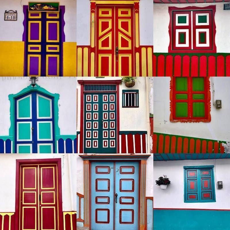 Las puertas y ventanas de Salento hacen del pueblo un auténtico museo al aire libre