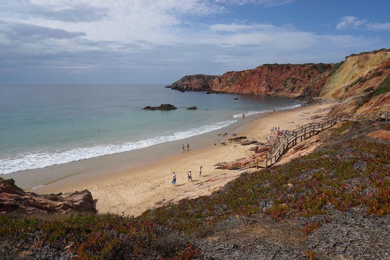 Playa de Amado a la derecha: zona bañista