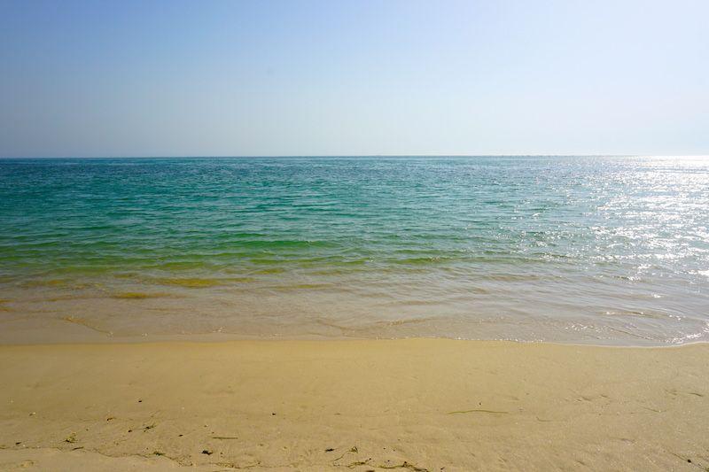 El mar en la playa de Troia
