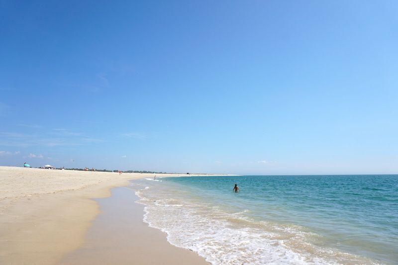 Playa de Tróia, después de cruzar el ferry boat desde Setúbal hacia el Alentejo