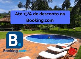 Até 15% de desconto na Booking.com